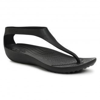 Sandały CROCS - Serena Flip W 205468 Black/Black