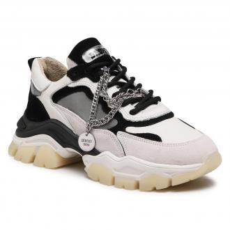 Sneakersy BRONX - 66366C-CH Off White/Black 3104