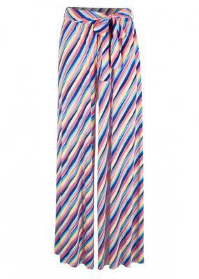 Spódnico-spodnie z dżerseju bonprix w kolorowe paski