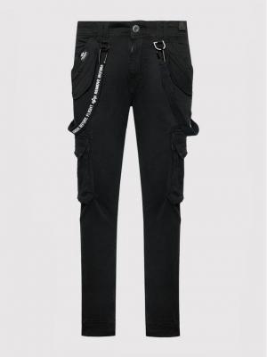 Alpha Industries Spodnie materiałowe Utility 128202 Czarny Slim Fit