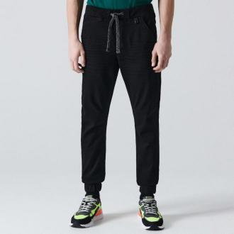 Cropp - Jeansowe joggery - Czarny