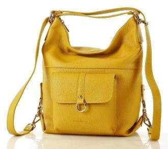MAZZINI skórzany plecak DAISY żółty