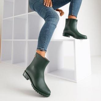 Ciemnozielone matowe damskie kalosze Rainy Show - Obuwie
