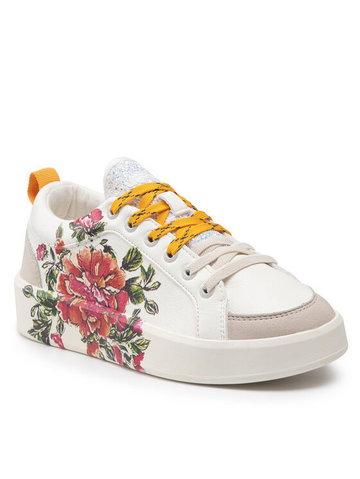 Sneakersy Shoes Fancy Flower 21WSKP17 Biały