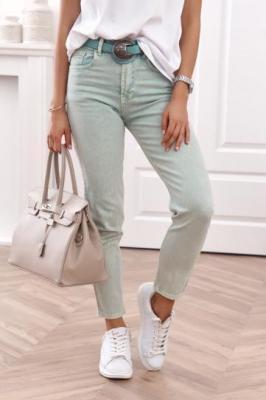 Spodnie jeansowe mom fit zielone RR2032