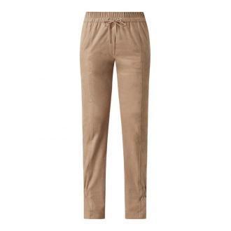 Luźne spodnie z imitacji skóry welurowej