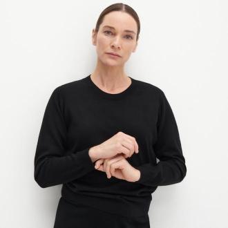Reserved - PREMIUM Sweter z wełny merino - Czarny