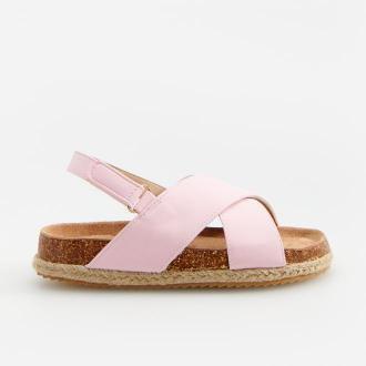 Reserved - Sandałki z plecioną podeszwą - Różowy