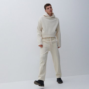 Reserved - Men`s trousers - Kremowy