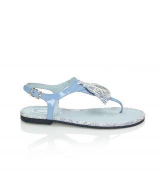 Błękitne sandały damskie : Rozmiar - 36