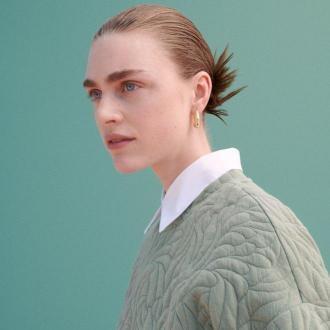 Reserved - Pikowana bluza - Zielony