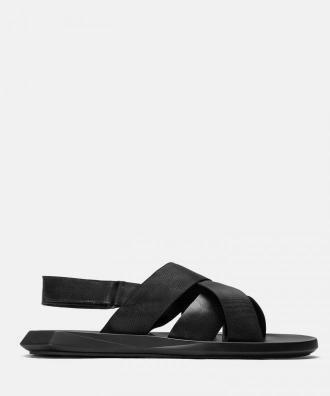 Czarne sandały męskie