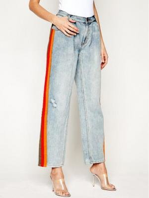 One Teaspoon Jeansy Relaxed Fit Montana Stripe Smitha 22936 Niebieski Relaxed Fit