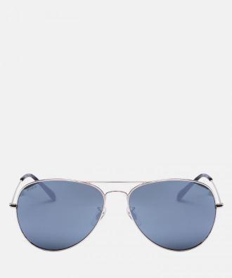 Srebrne okulary przeciwsłoneczne