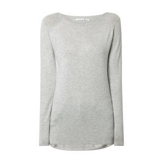 Długi sweter z raglanowymi rękawami