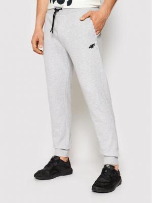 4F Spodnie dresowe NOSH4-SPMD001 Szary Regular Fit