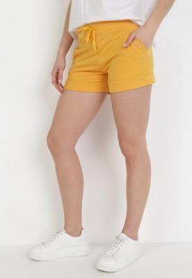 Żółte Szorty Dresowe Amadenah
