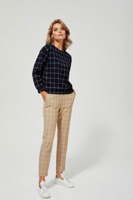 Spodnie cygaretki w kratę