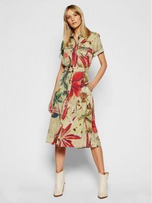 Desigual Sukienka koszulowa Kate 21SWVN05 Beżowy Regular Fit