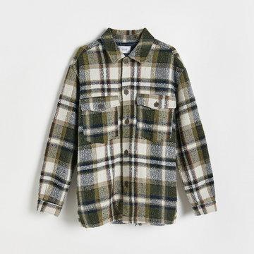 Reserved - Kurtka koszulowa w kratę - Wielobarwny