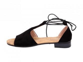 Czarne sandały damskie VINCEZA 17087 WIĄZANE