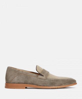 Beżowe loafersy męskie