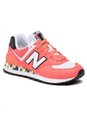 New Balance Sneakersy WL574CU2 Pomarańczowy