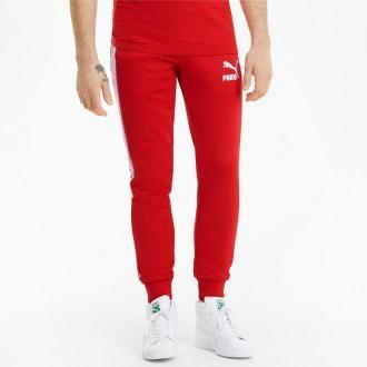 PUMA Męskie Spodnie Dresowe Iconic T7, High Risk Czerwony, rozmiar XS, Odzież