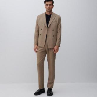Reserved - Spodnie comfort fit - Brązowy