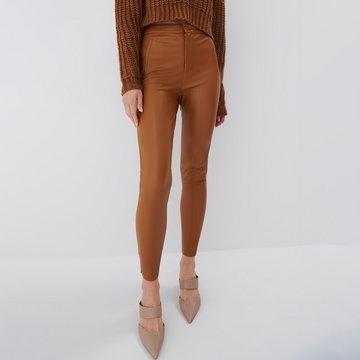 Mohito - Spodnie skinny - Brązowy