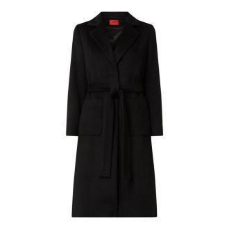 Płaszcz wełniany z dodatkiem żywej wełny model 'Mesua'