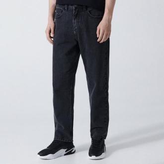 Cropp - Jeansy loose fit - Czarny