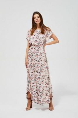 Długa sukienka maxi z nadrukiem w kwiaty