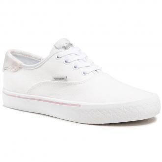 Tenisówki COACH - Citysole Skate Canva C2702 10011275 Optic White