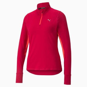 PUMA Damska Bluza Do Biegania Z Zamkiem 1/4 Favourite, Czerwony, rozmiar XS, Odzież