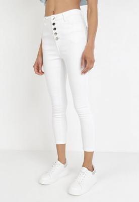 Białe Spodnie Skinny Paphesio