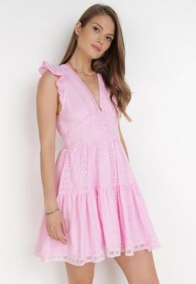 Różowa Sukienka Agniga