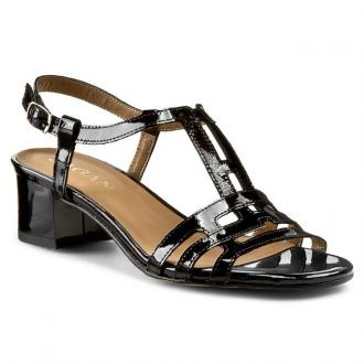 Sandały SAGAN - 2535  Czarny Lakier