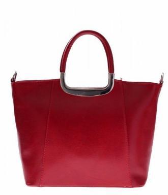 Klasyczny kuferek Skórzany do Ręki + Dł.pasek czerwony