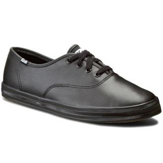 Tenisówki KEDS - Champion WH45780 Black Leather