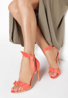 Pomarańczowe Sandały Lietta