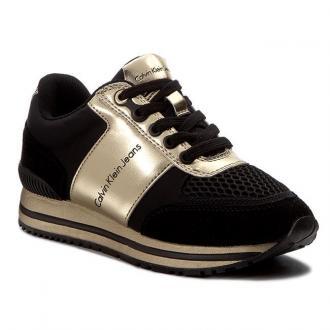 Sneakersy CALVIN KLEIN JEANS - Tanya R0651 Black/Gold
