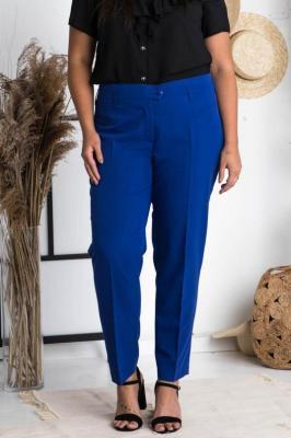 Spodnie eleganckie rurki ANNA chabrowe