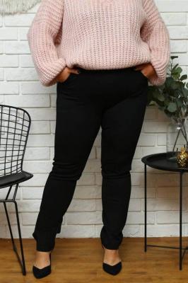 Spodnie dzianinowe treginsy PAULINA czarne