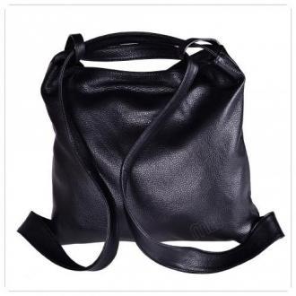 Torebko plecak duża czarna xl