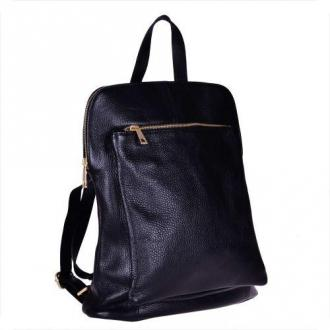 Plecak skórzany czarny -a 4- lekki