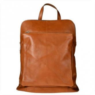 Duży plecak skórzany a4 rudy brąz skóra cielęca najwyższej