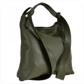 Torebko-plecak  oliwka duży xl