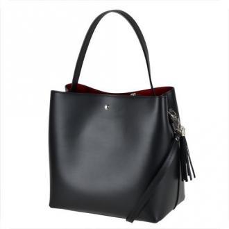 Vezze- torebka czarna skórzana nowy wzór l