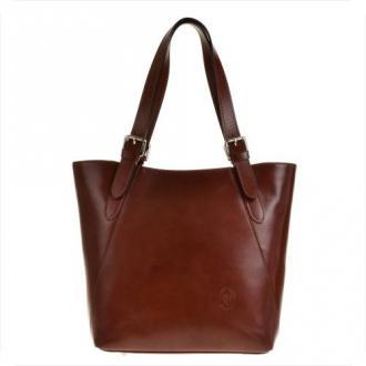 Torebka skórzana shopper xl koniak  genuine leather